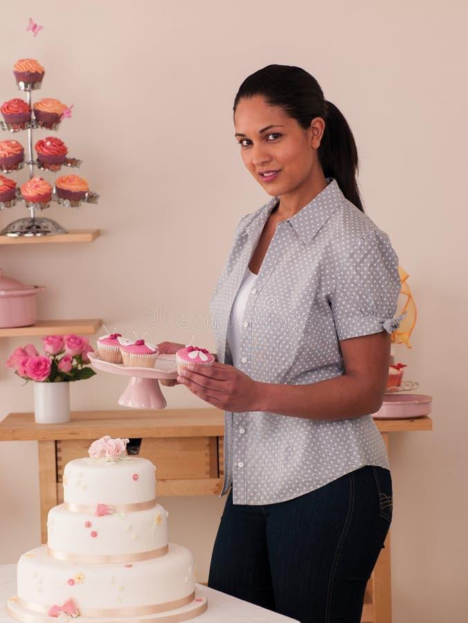 Decorating Cakes Royalty Free Stock Image