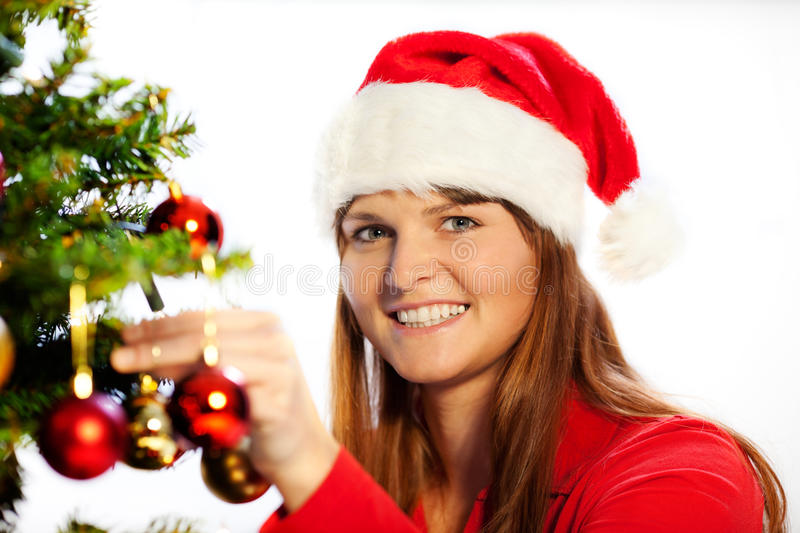 Download Decorating christmas tree stock photo. Image of miss - 16775872