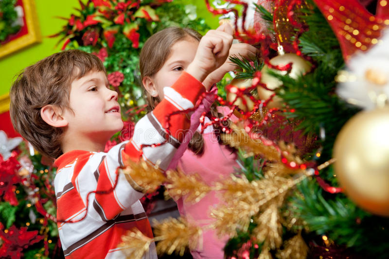 Download Decorating A Christmas Tree Stock Image - Image: 22276359