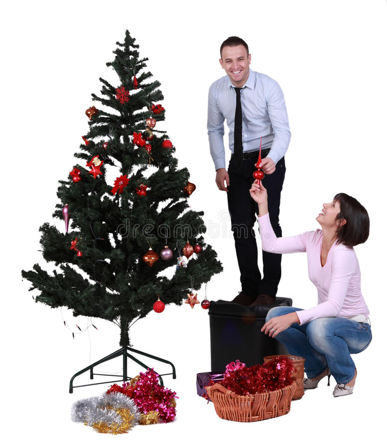 Download Decorating The Christmas Tree Stock Image - Image: 22284597