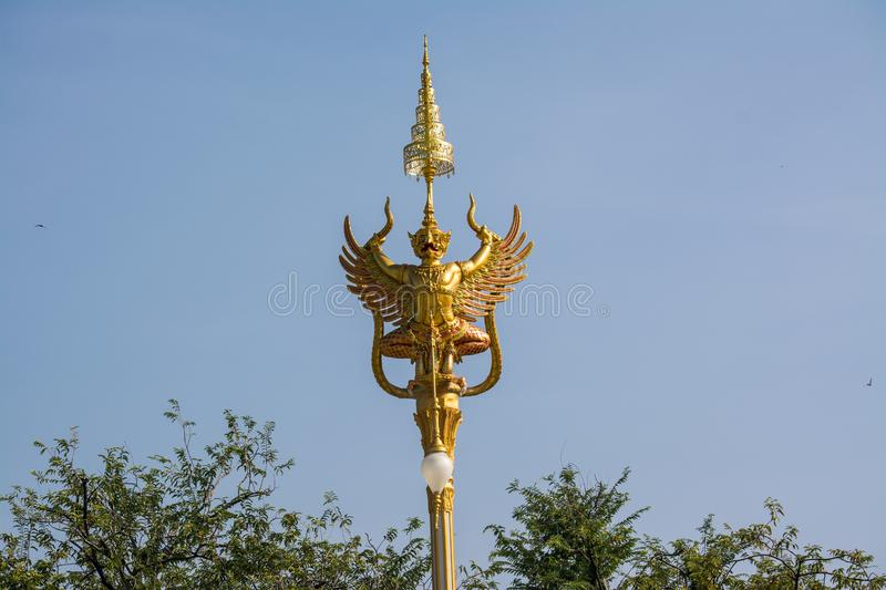 Decorating a crematorium for The Royal Cremation Ceremony. Of His Majesty the Late King, KING RAMA 9, Thailand stock images