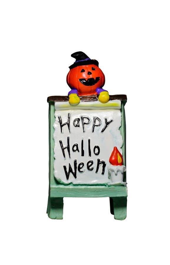 Decorating for Halloween. Happy Halloween, Decorating for Halloween, the pumpkin on Halloween banners, funny Jack O'Lantern on white background stock photo