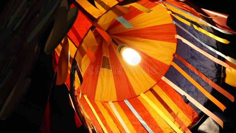 Inside the paper hanging lamp royalty free stock photography