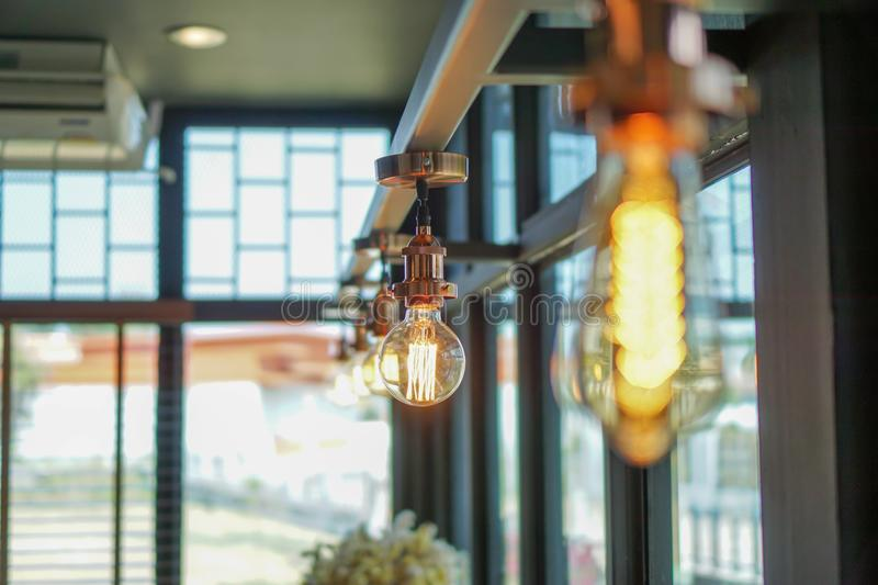 Decorating light, decoration concept store or web site royalty free stock photography