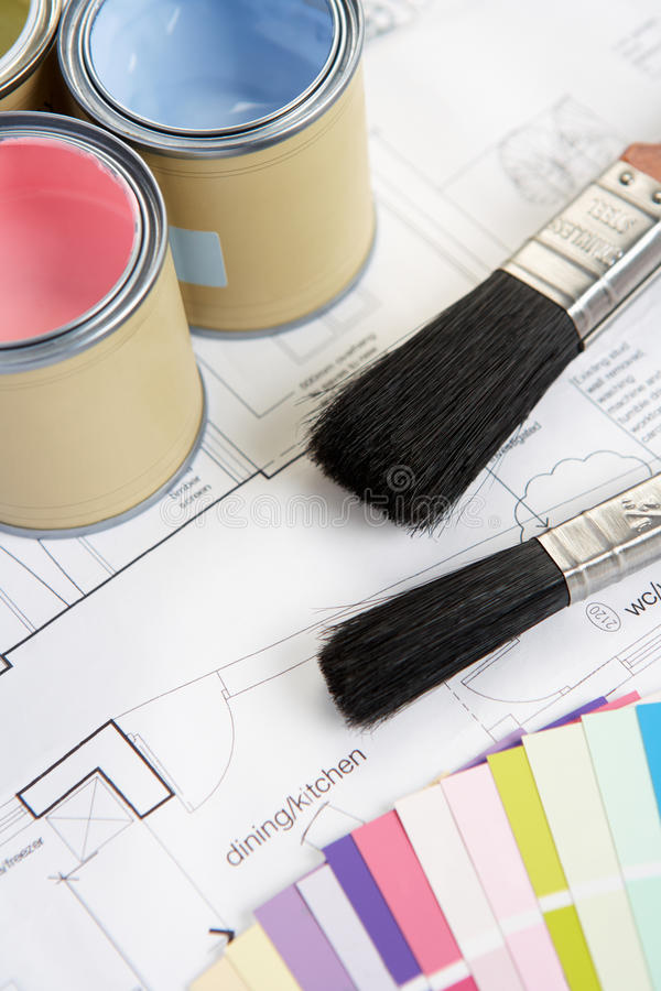 Download Decorating Tools And Materials Stock Image - Image of plan, pink: 22001539