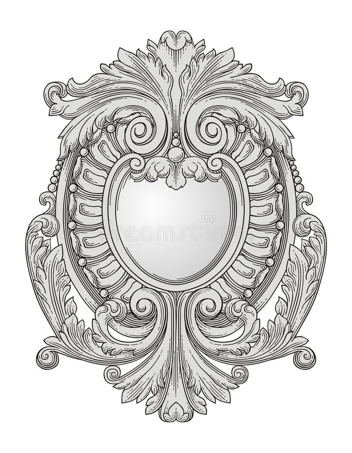 Download Decoration stock vector. Illustration of engraving, vignette - 25468602