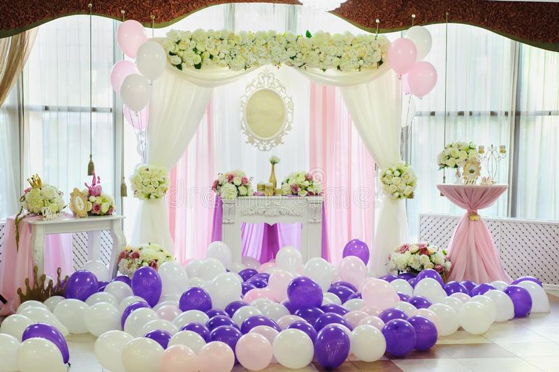 Decoration with balloons stock photo