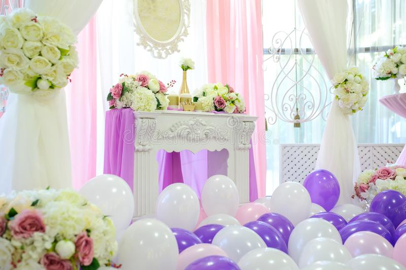 Decoration with balloons royalty free stock photos