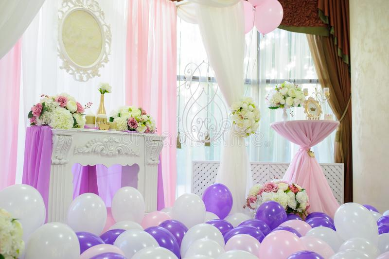 Decoration with balloons royalty free stock image