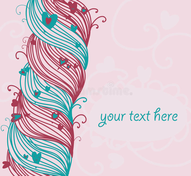 Download Decoration braid stock vector. Image of romantic, gift - 18625150