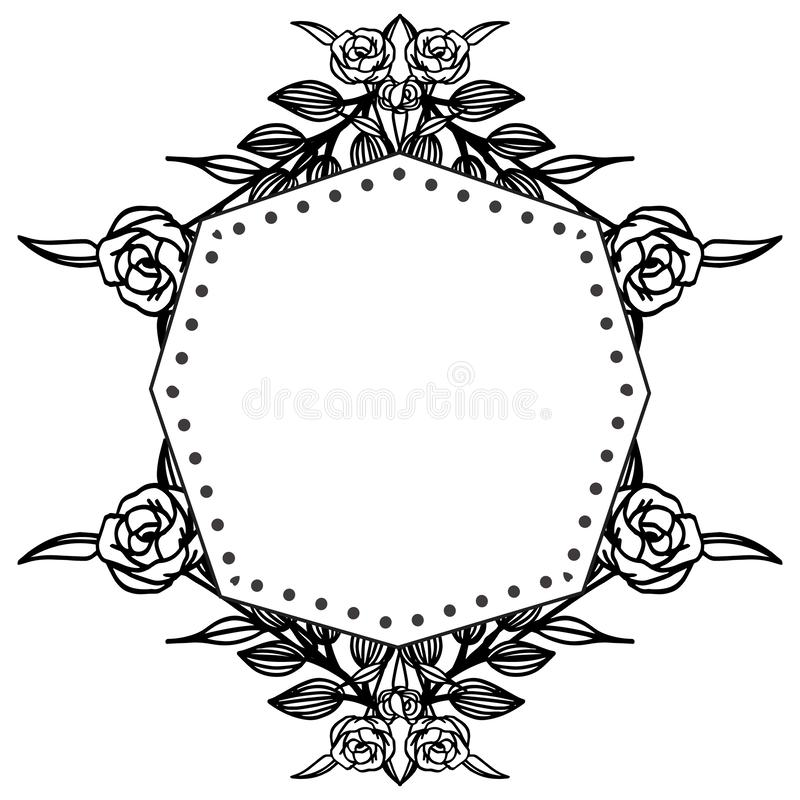 Decoration of card with feature elegant, various floral frame. Vector. Illustration vector illustration