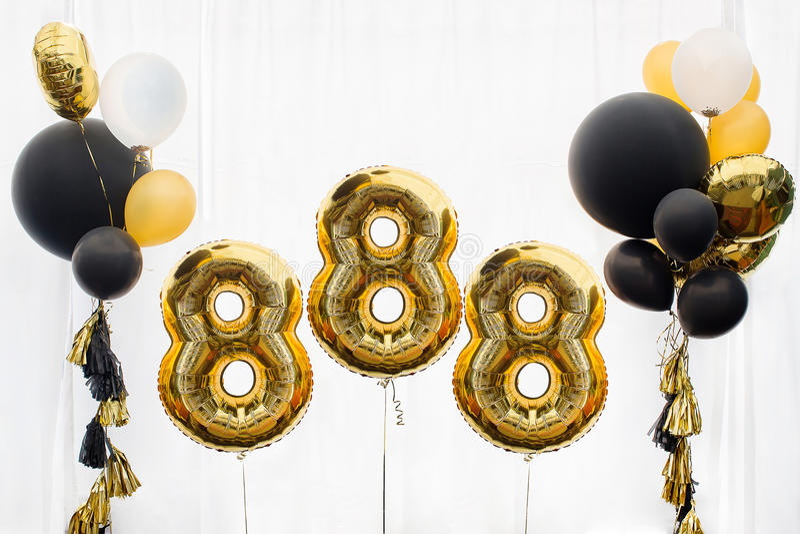 Decoration for 888 celebration royalty free stock image