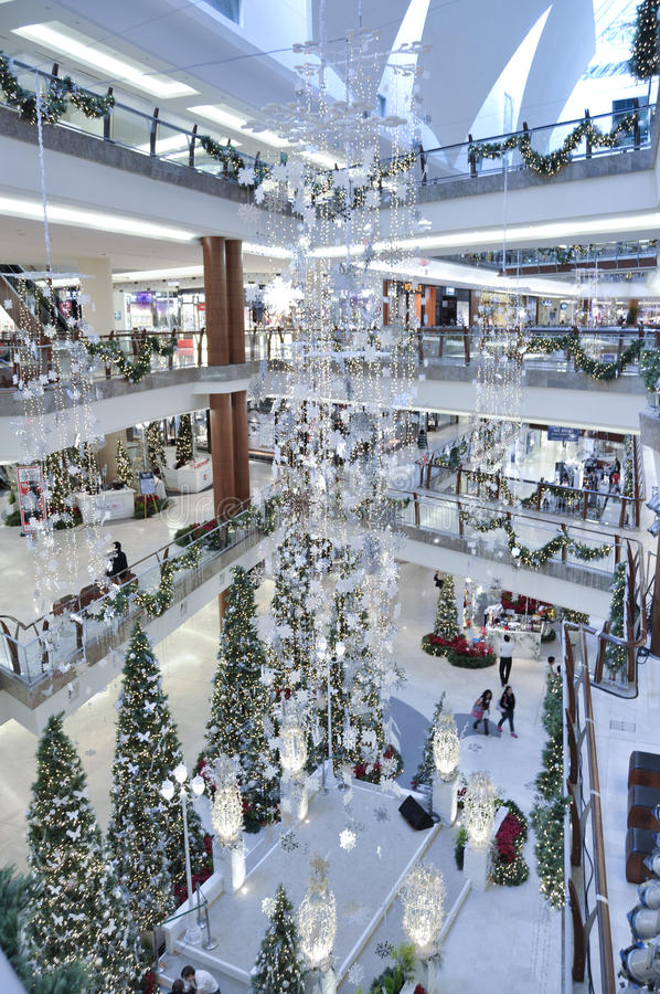 Decoration Of Christmas In The Garden Mall Editorial Photography