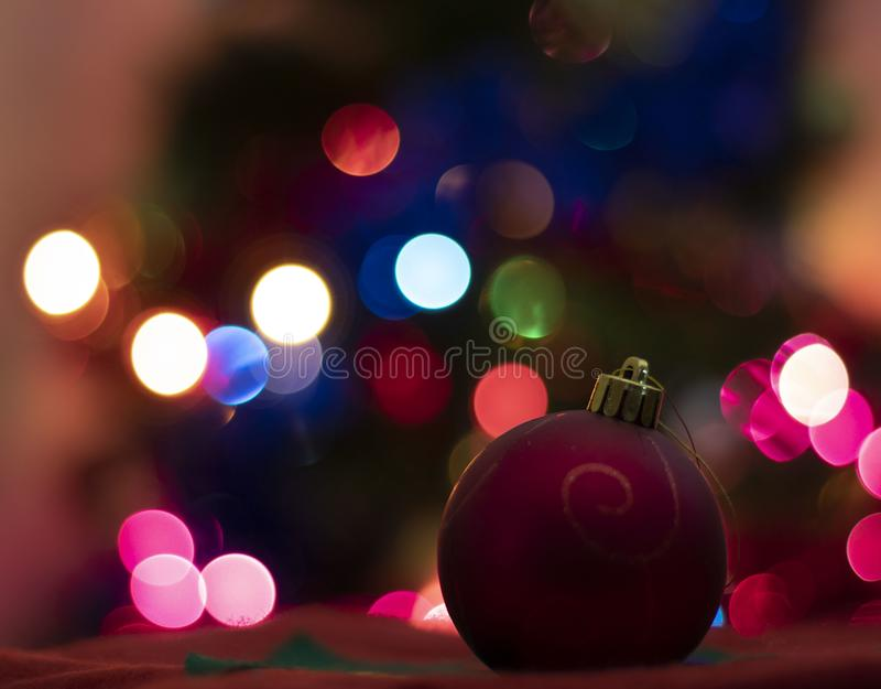 Decoration for Christmas tree and blur background royalty free stock photos