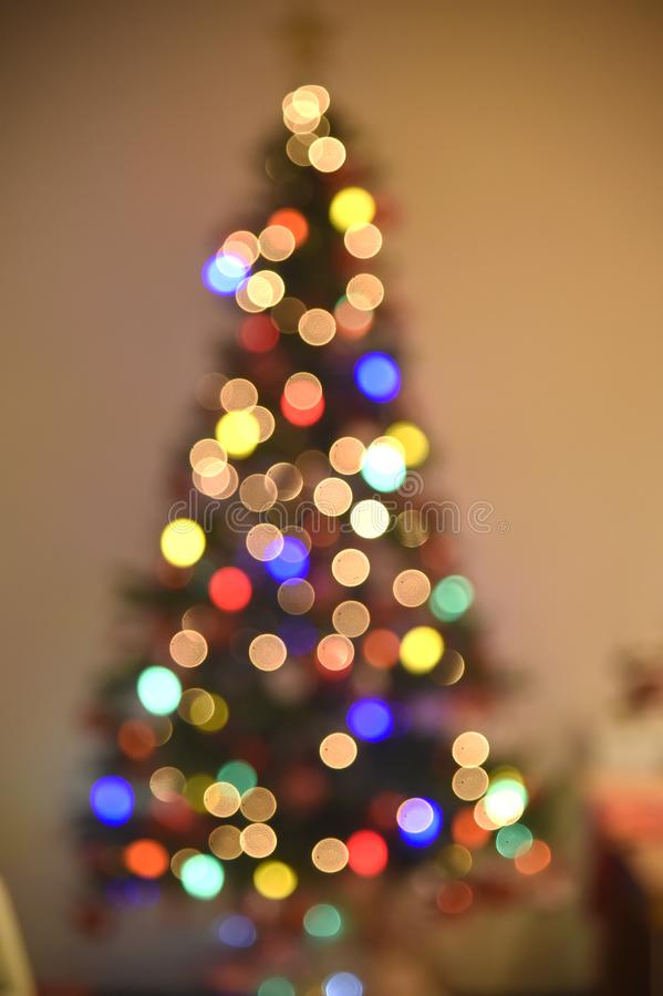 Decoration of Christmas tree. Rio de Janeiro - Brazil, decoration of Christmas tree with deliberate blur, to give effect stock image