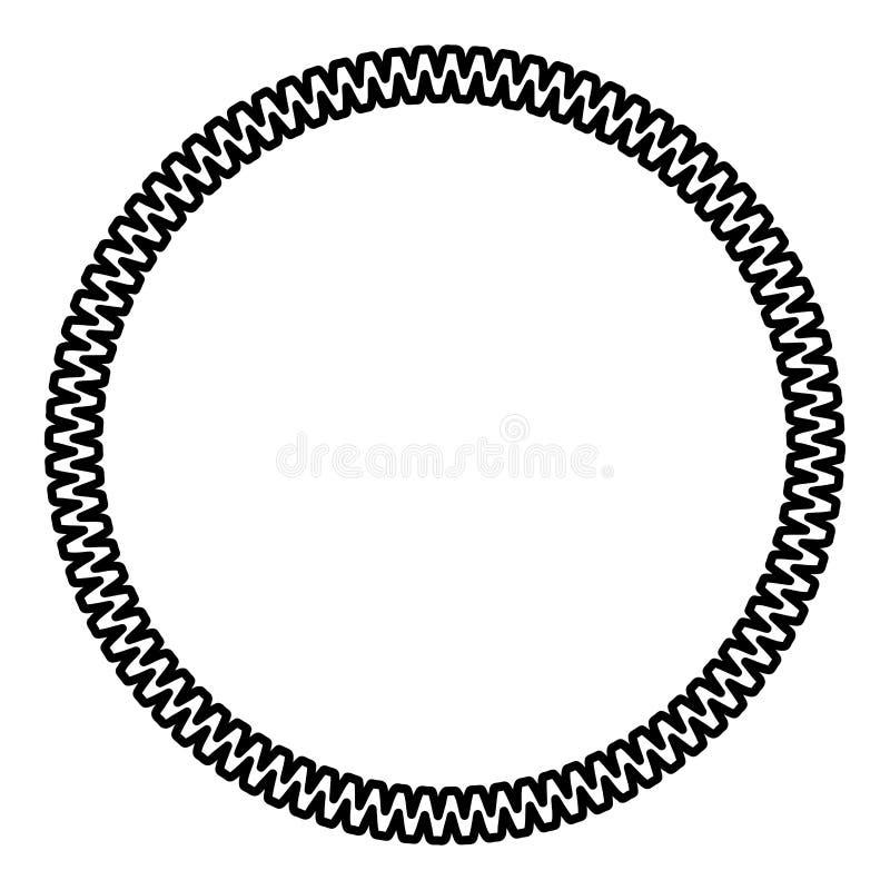 Decoration circle Decorative line Art frame icon outline black color vector illustration flat style image. Decoration circle Decorative line Art frame icon stock illustration