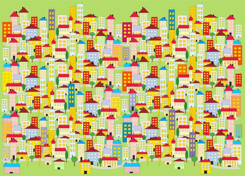 Decoration of colored city stock image