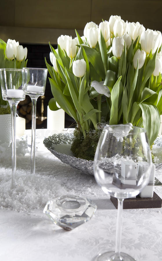 Decoration of the dining table royalty free stock photography