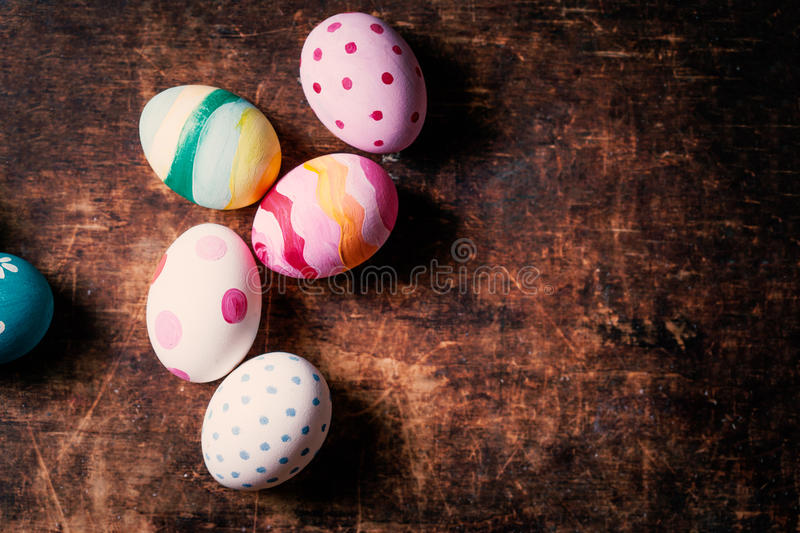 Decoration Easter Eggs with copy space. Happy Easter! stock photography