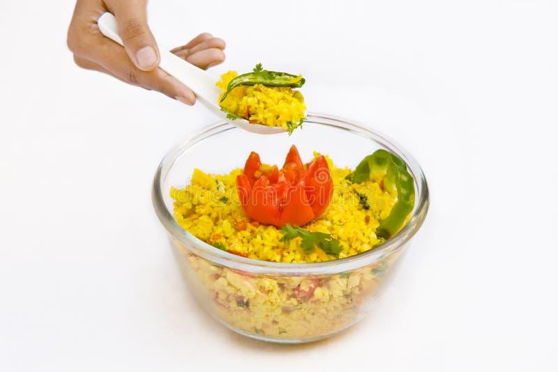 Decoration of food stock photo