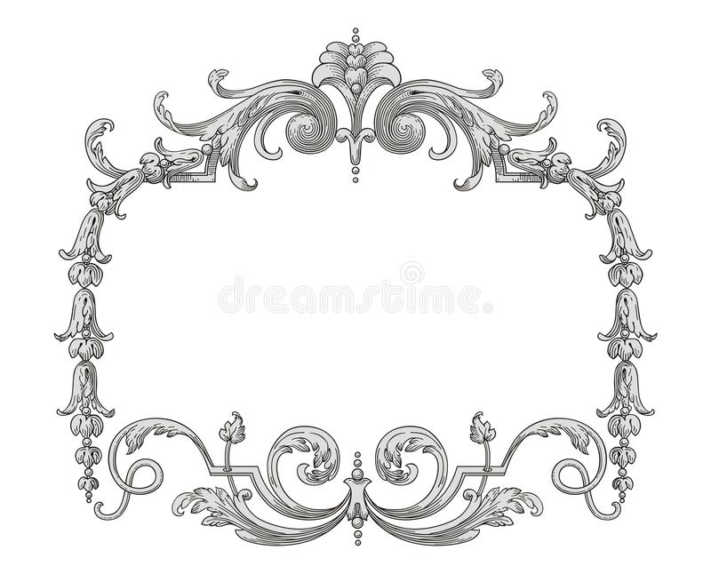 Download Decoration frame stock illustration. Image of meadow - 23931892