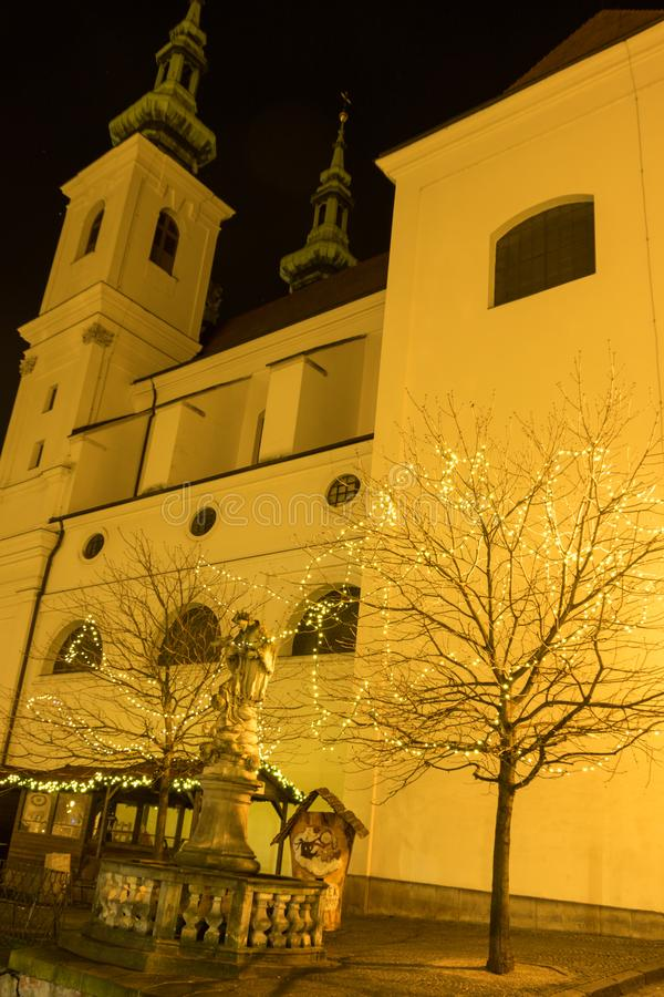 A decoration in front of Saint Michael church, Brno, Czech Rebublic. Europe stock photo