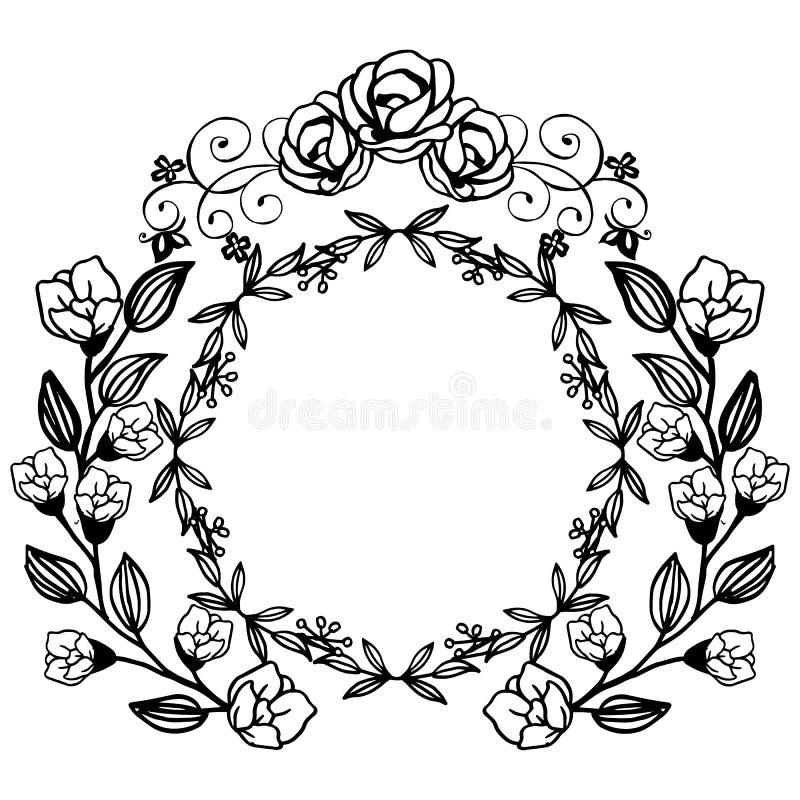 Seamless Rose Flower Border Stock Vector - Illustration of frame,  embroidery: 134175898