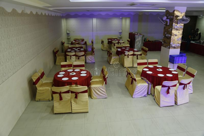 Decoration of a hotel during marriage function in jalandhar, India. This is the decoration of a hotel during indian and punjabi marriage function in jalandhar royalty free stock images