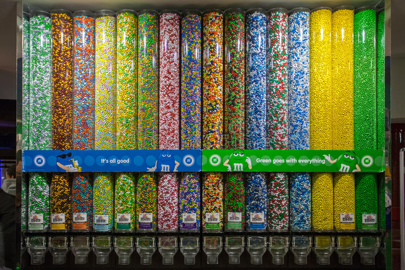 Decoration Of The M&M\'s World New York. Positioned In The Heart Of ...