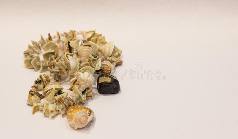 Decorations and shells royalty free stock photo