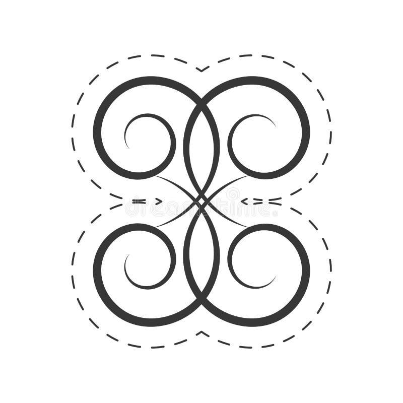 Decoration ornament swirl filigree. Illustration eps 10 royalty free illustration