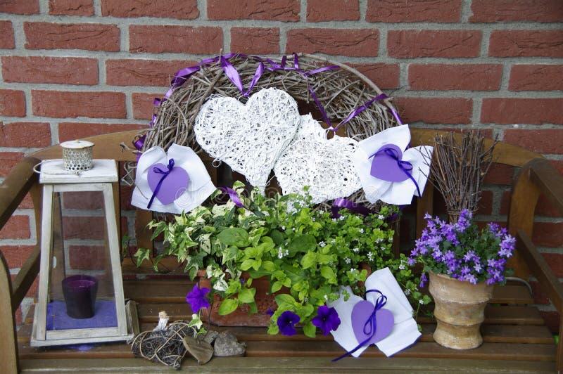 Decoration in purple stock image