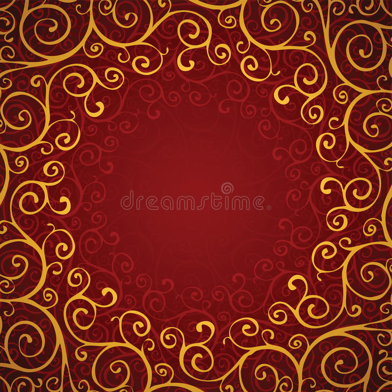 Download Decoration On A Red Background Stock Vector - Image: 26348652