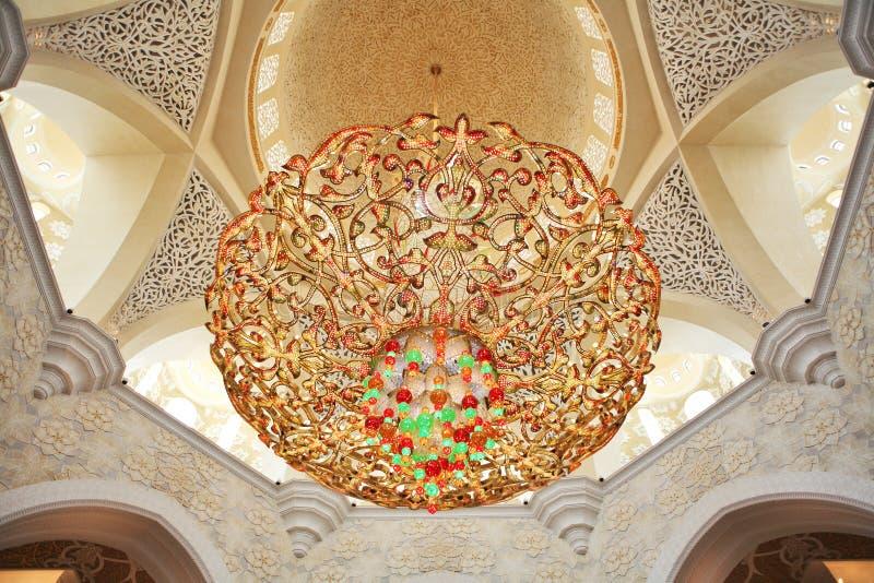 Decoration of Sheikh Zayed Mosque. Abu Dhabi. United Arab Emirates royalty free stock photography