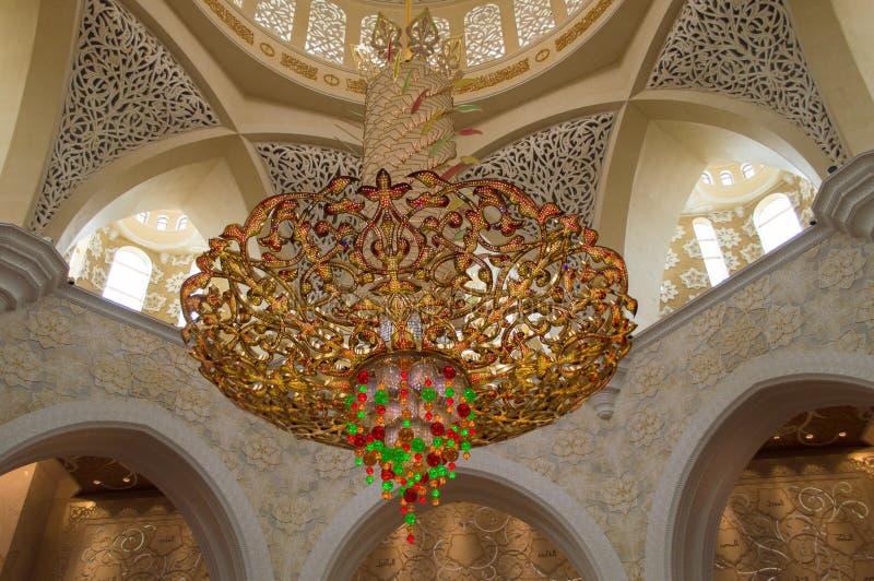 Decoration of Sheikh Zayed Mosque. Abu Dhabi royalty free stock photos