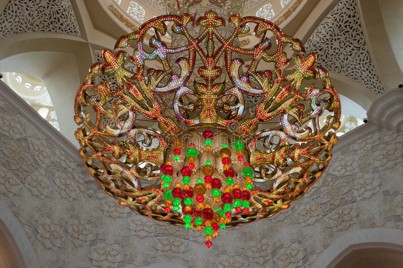 Decoration of Sheikh Zayed Mosque. Abu Dhabi stock images