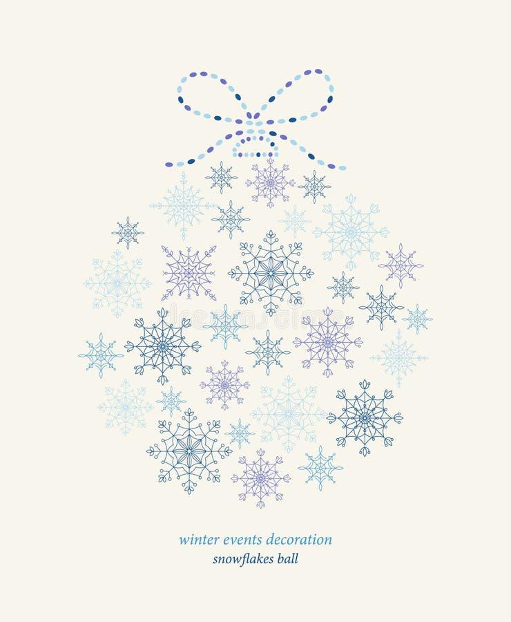 Decoration Snowflakes Event Ball. Stock Photos
