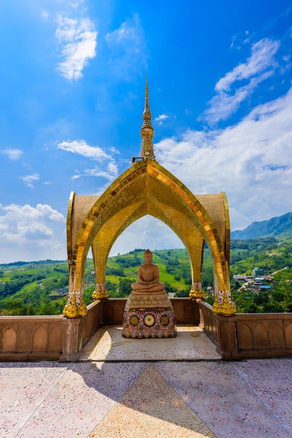 Big Main Pagoda in Wat Phra That Pha Son Kaew temple at Phetchabun Thailand stock photos