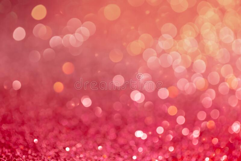 Decoration twinkle lights background, abstract glowing backdrop with circles,modern design overlay with sparkling. Glimmers. Red, pink and golden backdrop royalty free stock photography