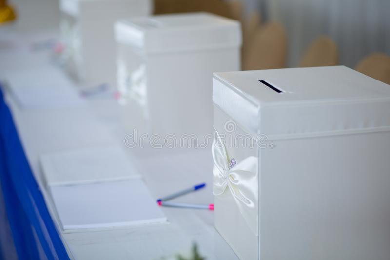 Gift Box Decoration and wedding accessories. royalty free stock photos
