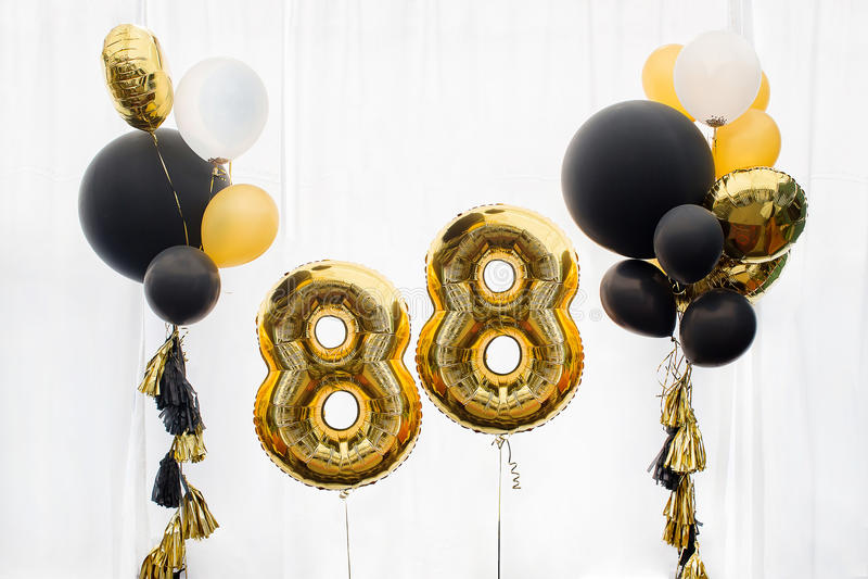 Decoration for 88 years birthday, anniversary stock image