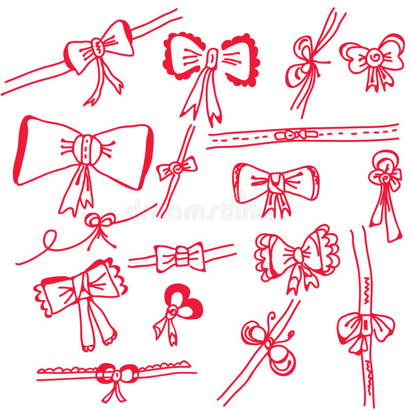 Download Decorational Holidays Bows Set Stock Vector - Image: 16559488