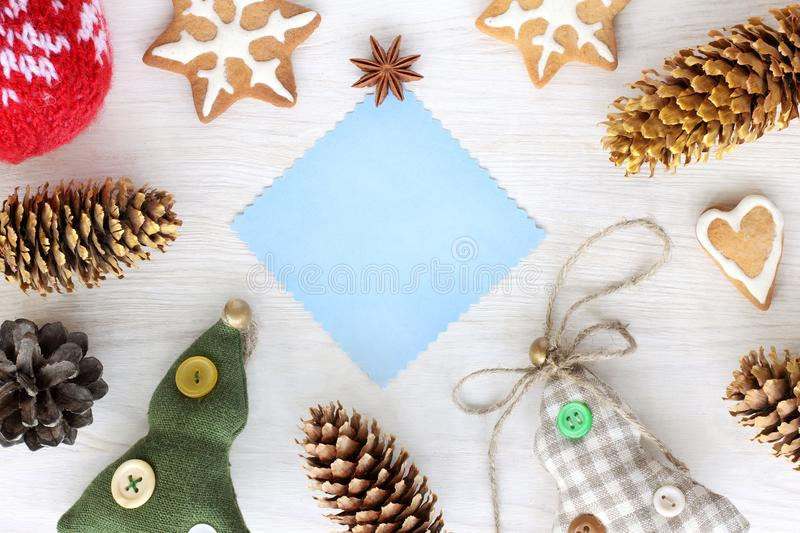 Decorations for Christmas and New Year stock photo