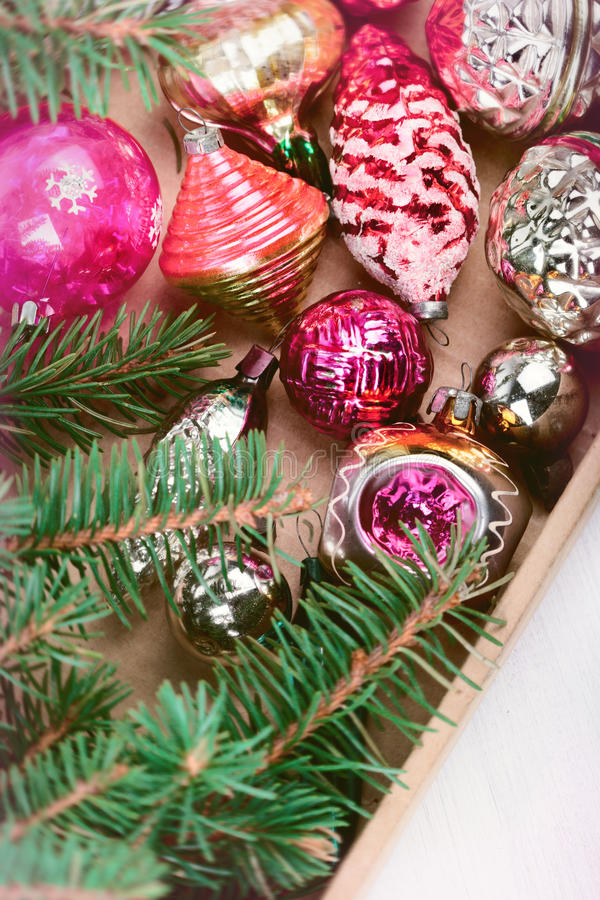 Decorations for Christmas trees royalty free stock image
