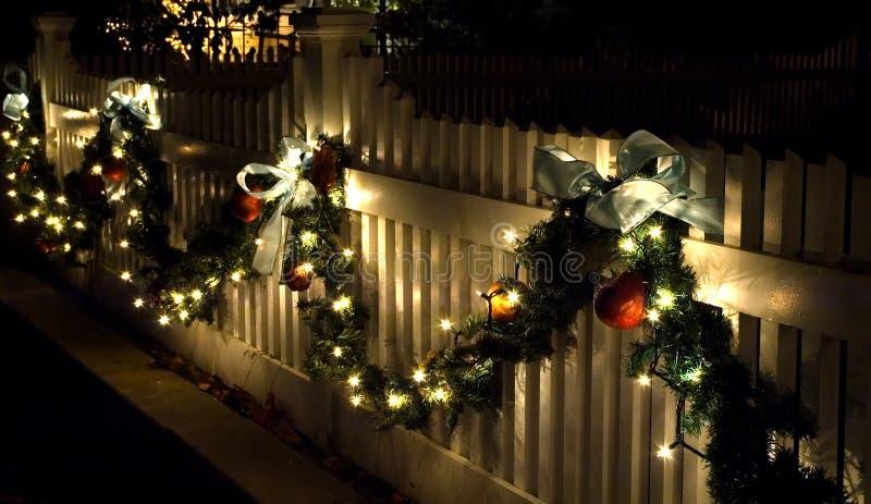 decorations fence holiday στοκ εικόνες
