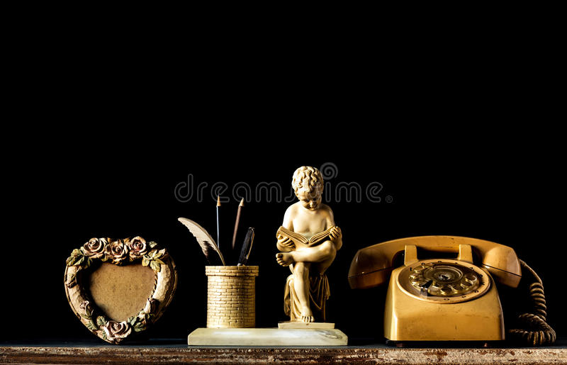 Decorations with old style. On a black background stock image
