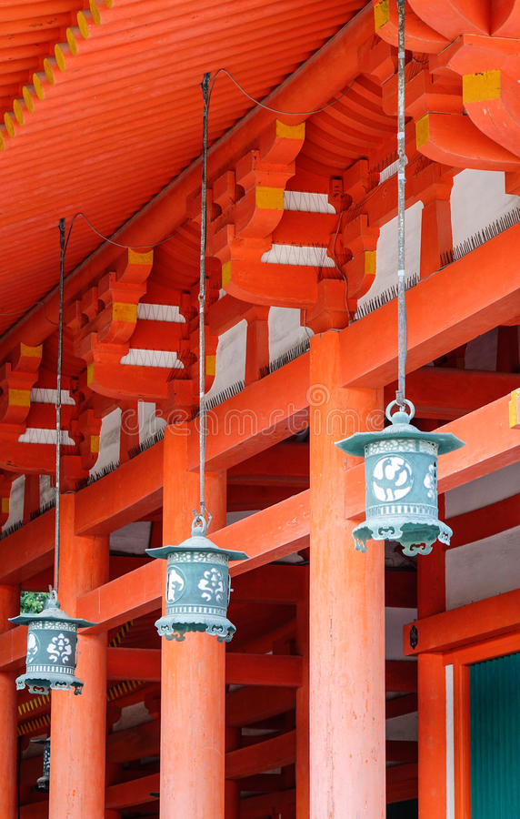 Decorations at the Shrine in Kyoto, Japan royalty free stock photography