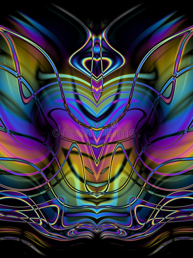 Decorative Abstract Butterfly stock illustration