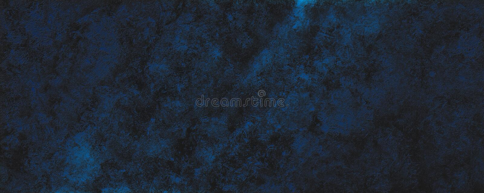 Decorative abstract grunge black and blue background texture royalty free stock photos