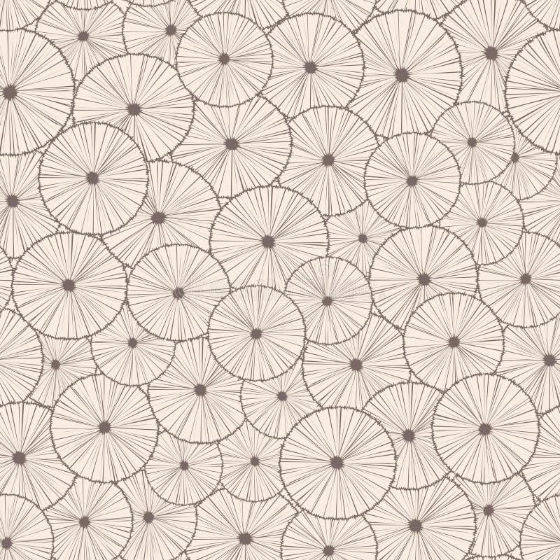 Decorative abstract seamless circle pattern royalty free illustration